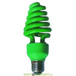 Энергосберегающая лампа зеленая Ecola Spiral Color 20W 220V E27 Green 148x60