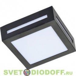 Светильник накладной уличный IP65 матовый Квадрат металл. Ecola GX53 LED 3082W 1*GX53 Черный 136x136x55