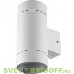 Светильник фасадный накладной Ecola LED 8013A IP65 прозрачный Цилиндр металл. 2*GX53 (двух лучевой) Белый 205x140x90