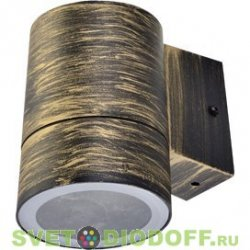 Светильник накладной Ecola GX53 LED 8013A IP65 прозрачный Цилиндр металл. 2*GX53 Черный 205x140x90