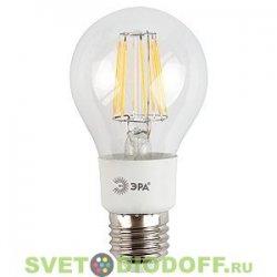 Лампа светодиодная прозрачная-ФиламенЭРА F-LED A60-5w-827-E27