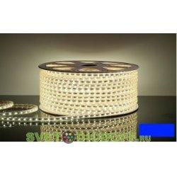 Светодиодная лента 220 вольт 3528 60 LED IP67 4,8Вт/м синего свечения