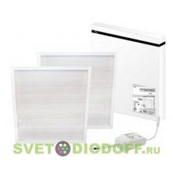 Светодиодная панель 595х595х25 Призма 25 мм встр. 3000 лм 36 Вт 4000 К белая, без ЭПРА, Народная