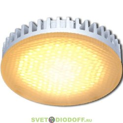 Лампа светодиодная Ecola GX53  LED 6,0W Tablet 220V золотистая матовое стекло (ребристый алюм. радиатор)