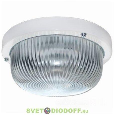 Светильник Круг накладной 1*GX53 Ecola Light GX53 LED ДПП 03-7-101 матовое стекло IP65 белый 185х185х85