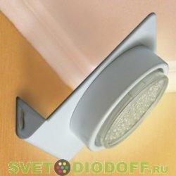 Светильник настенный угловой хром Ecola GX53-N82 52*130*111