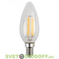 Лампа светодиодная СВЕЧА прозрачнаяЭРА F-LED B35-5w-827-E14
