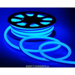 Светодиодная неоновая лента Гибкий НЕОН 9Вт, 220В, IP67, синий свет (10х18мм) , катушка 20м.п. цена за 1м.п.
