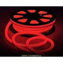 Светодиодная неоновая лента Гибкий НЕОН 9Вт, 220В, IP67, красный свет (11,5х18мм) , катушка 50м.п. цена за 1м.п.
