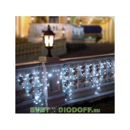 """Гирлянда светодиодная """"Бахрома"""" 2,5х0,6 м, белый свет, наружное использование, IP44, TDM"""