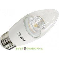 Лампа светодиодная для хрустальных люстрЭРА LED smd B35-7w-827-E27-Clear