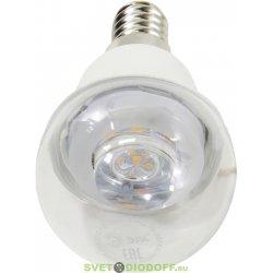 Лампа светодиодная для хрустальных люстрЭРА LED smd P45-7w-827-E14-Clear