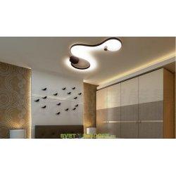 Настенно-потолочный светодиодный светильник DESIGN LED Line A 12,6W 3000K теплый белый, корпус черный