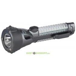 A5M Фонарь ЭРА Авто-спасатель 4в1 2W LED, 12xLED сигнал. фонарь, нож, магнит, 2xAA, бл (20/60/480)