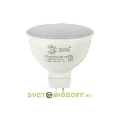 Лампа светодиодная ЭРА LED smd MR16-5w-840-GU5.3 ECO 4000К