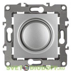 Светорегулятор (диммер) поворотно-нажимной, 400ВА 230В, Эра12, алюминий 12-4101-03 ЭРА
