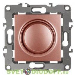 Светорегулятор (диммер) поворотно-нажимной, 400ВА 230В, Эра12, медь 12-4101-14 ЭРА