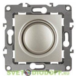 Светорегулятор (диммер) поворотно-нажимной, 400ВА 230В, Эра12, перламутр 12-4101-15 ЭРА