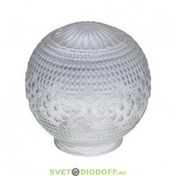 """Рассеиватель шар-стекло (прозрачный) 62-010-А 85 """"Цветочек"""" TDM"""