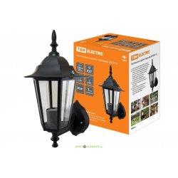 Светильник садово-парковый НБУ 06-60-001 шестигранник, настенный, пластик, черный TDM