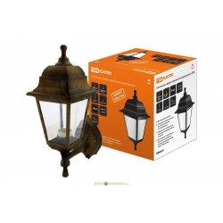 Светильник садово-парковый НБУ 04-60-001 четырехгранник, настенный, пластик, медь TDM