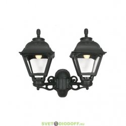 Уличный настенный светильник Fumagalli Porpora/Cefa черный/прозрачный