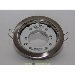 Светильник встраиваемый под лампу GX53 Ecola H4 без рефл. Хром 38х106