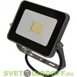 Прожектор светодиодный теплый спектр Ecola Projector LED 10W 220V 2800K IP65 Серебристо-серый 115x80x14