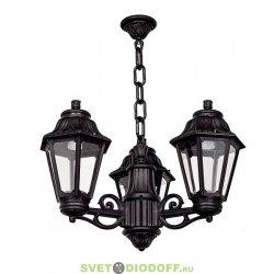 Уличный подвесной светильник Fumagalli Sichem/Anna черный/прозрачное 3х рожковый