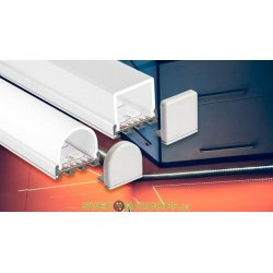 Алюминиевый Профиль для светодиодной ленты PLS-GIP-2000 ANOD