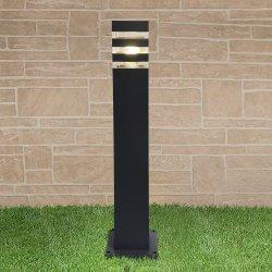 Уличный светильник, столб 90х90х600мм, 1550 TECHNO black черный