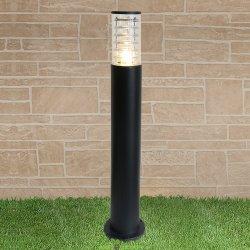 Уличный светильник столб 1507 TECHNO black черный