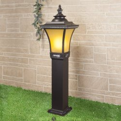 Светильник садово-парковый на столбе Libra F венге 0,87м (арт. LXT-1408F)