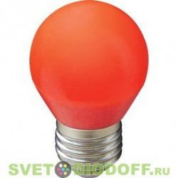 СВЕТОДИОДНАЯ ЛАМПА ECOLA GLOBE LED COLOR 5,0W G45 220V E27 RED ШАР КРАСНЫЙ МАТОВАЯ КОЛБА 77X45