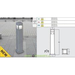 Столб уличный светодиодный FUMAGALLI 10Вт, ELISA 800 (800x175) серый 0,8м