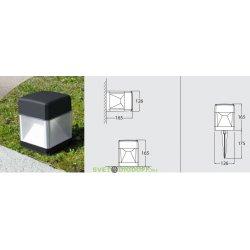 Светильник наземный светодиодный Fumagalli 10Вт, ELISA SPIKE (165х175х126мм) черный