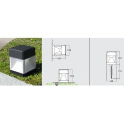 Светильник наземный светодиодный Fumagalli 10Вт, ELISA SPIKE (165х175х126мм) белый