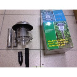 Светильник на солнечных батареях, сталь, с выключателем