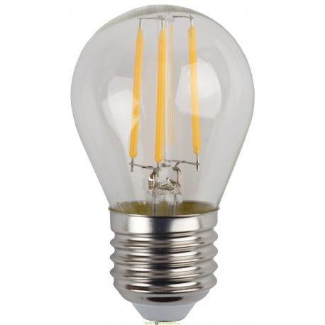 Лампа светодиодная Филамен ЭРА F-LED Р45-5w-827-E27