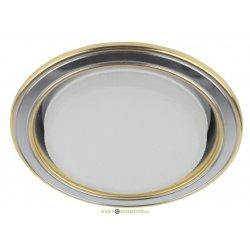 Светильник точечный встраиваемый KL35 SN/G ЭРА Gx53 220V, 13W, сатин никель/золото