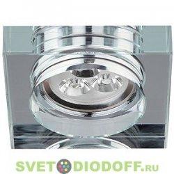 "DK LED 2 SL Светильник ЭРА светодиод. декор. ""стекло квадрат"" LED 3*1W 280LM 220V 3200K зеркальный"