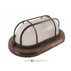 Светильник для деревянных строений НПБ1402 сосна овал с реш. 60Вт IP54 TDM