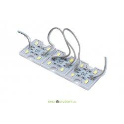 Модуль светодиодный 5630, 4LED, 1,35Вт, 12В, IP65, Цвет: 6000-6500 Холодный белый