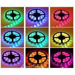 Лента светодиодная стандарт SMD 5050, 60 LED/м, 14,4 Вт/м, 12В , IP68, Цвет: RGB