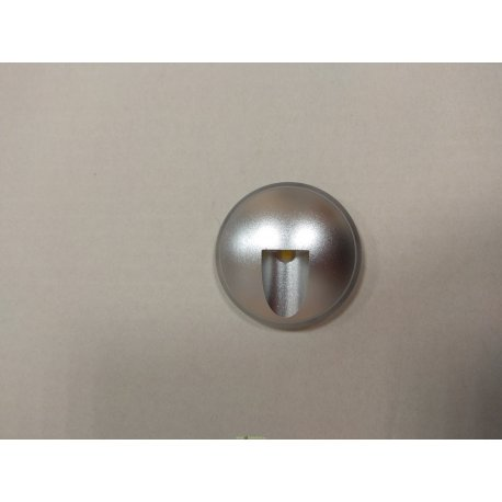 Светильник светодиодный подсветка ступеней LED, теплый белый 3400К, матовое серебро