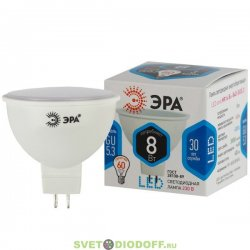 Лампа светодиодная ЭРА LED smd MR16-8w-840-GU5.3 4000К