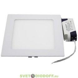 Светильник светодиодный ультратонкий квадратный LED 2-12, 12W 220V 6500K