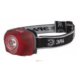 G3W Фонарь ЭРА Налобный 3W LED, коллиматор, 3хААА, 4 режима