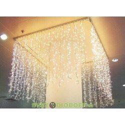 """Гирлянда новогодняя """"Занавес"""" 1х1 м, белый свет, наружное использование, IP44"""