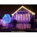"""Гирлянда новогодняя """"Занавес"""" 1х1 м, RGB свет, наружное использование, IP44"""